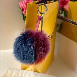 🎉BDAY SALE🎉FENDI  Fox Fur Pom Pom bag charm